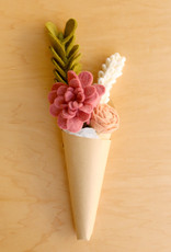 Global Goods Partners Pink Felt Flower Bouquet