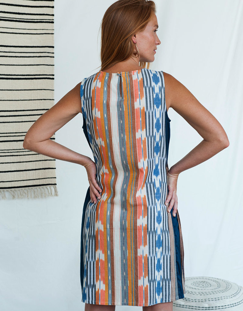 Mata Traders Rainbow Ikat Dakota Dress