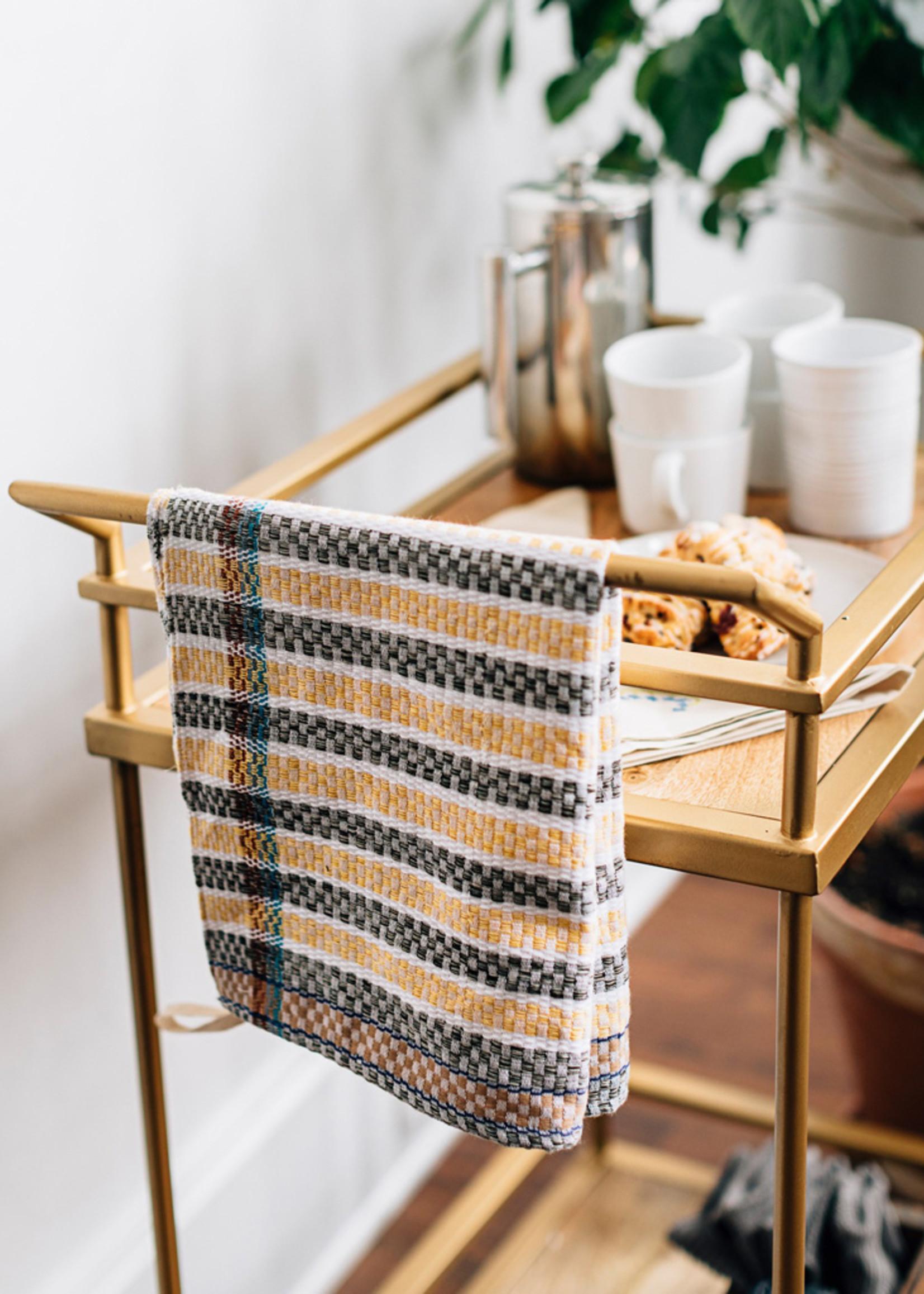 Checked Stripe Tea Towel