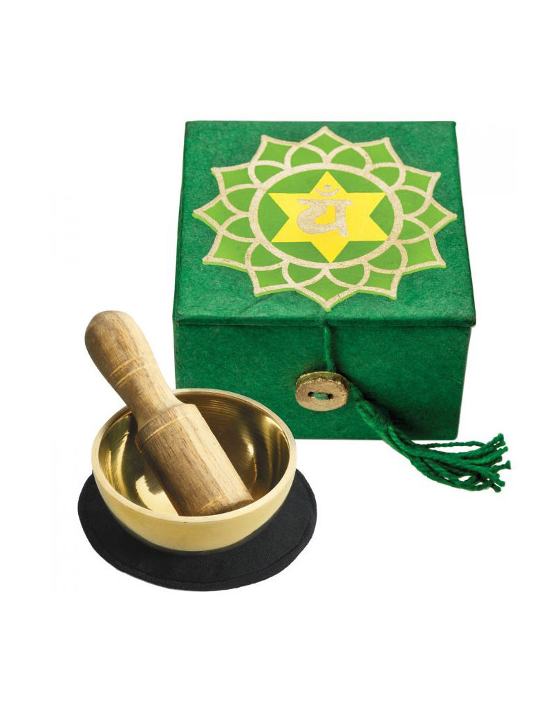 dZi Green Heart Chakra Mini Meditation Bowl