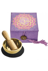 dZi Purple Crown Chakra Mini Meditation Bowl