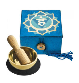 dZi Blue Throat Chakra Mini Meditation Bowl