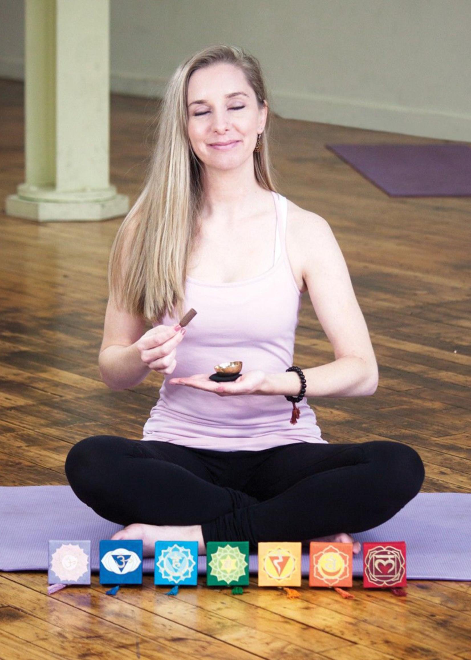 dZi Blue Throat Chakra Mini Meditation Bowl