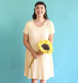 Honeycomb Pocket Swing Dress