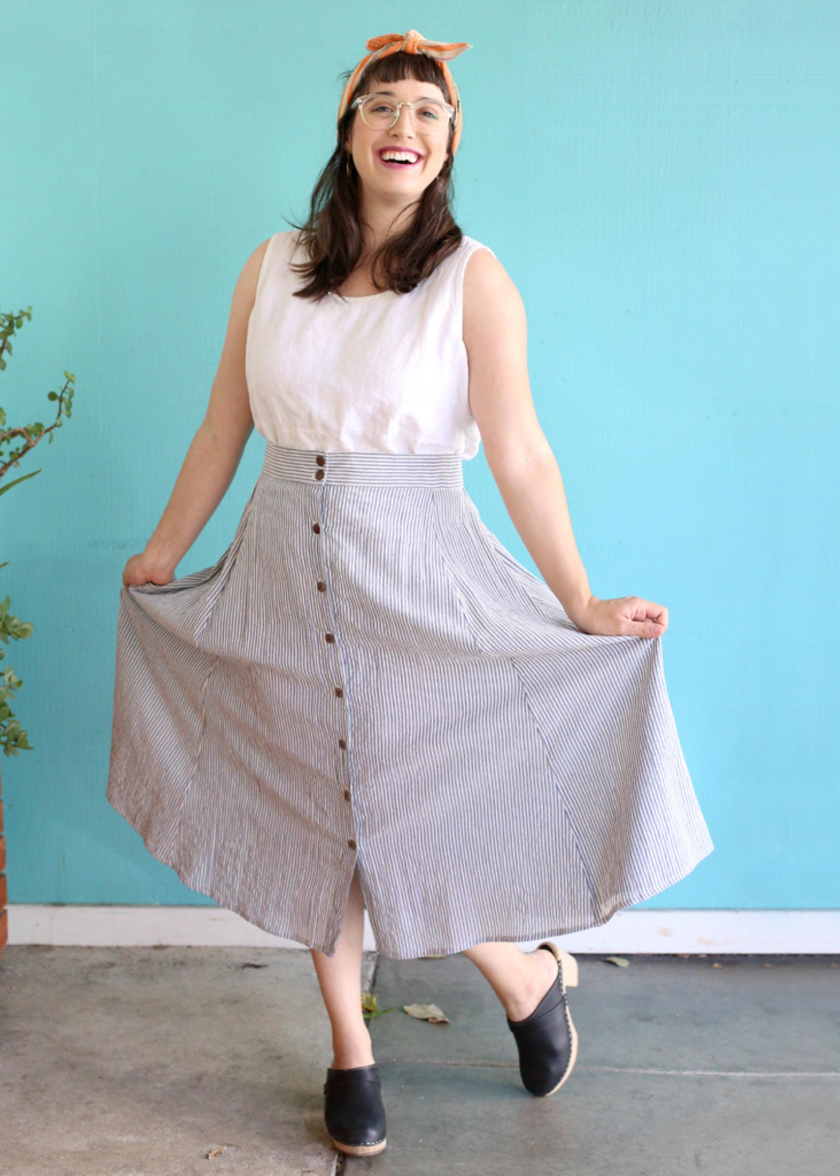Ganesh Himal Nautical Stripe Skirt