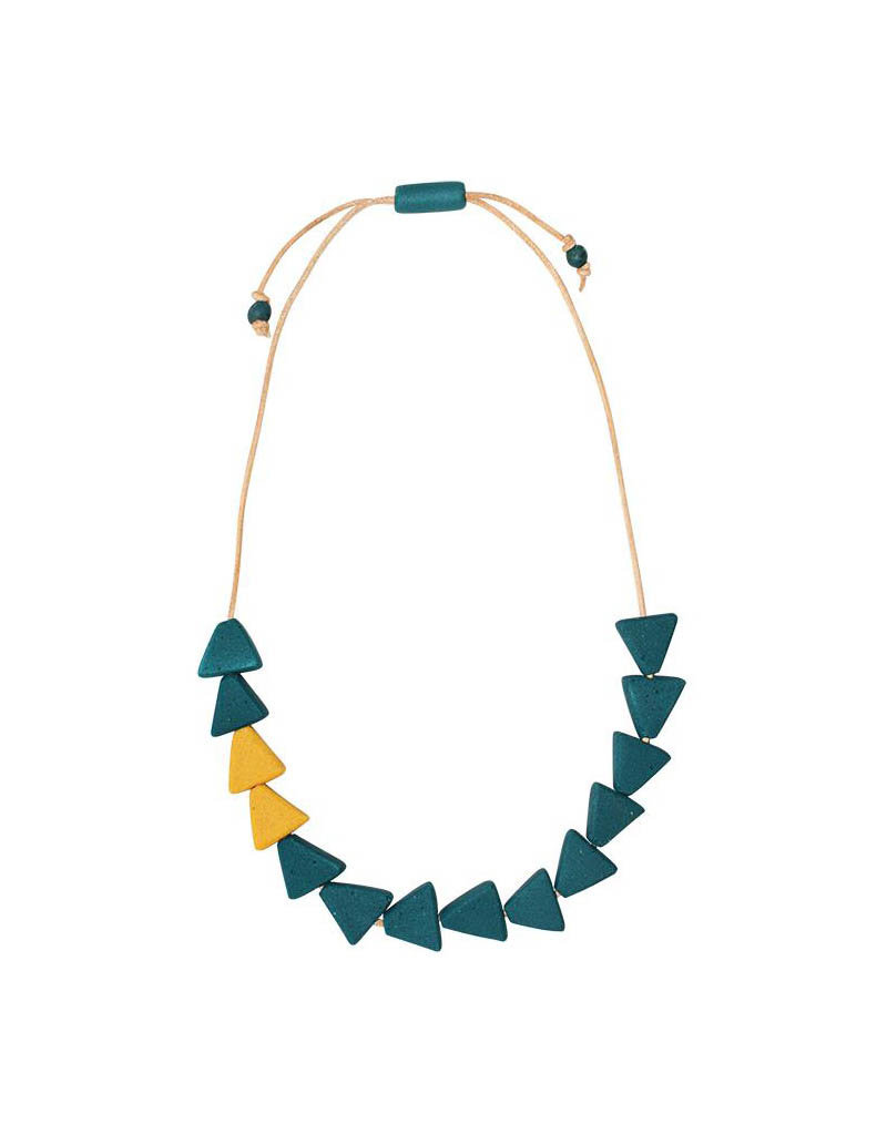 Global Mamas Teal Fast Forward Necklace