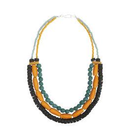 Global Mamas Mustard Manye Necklace