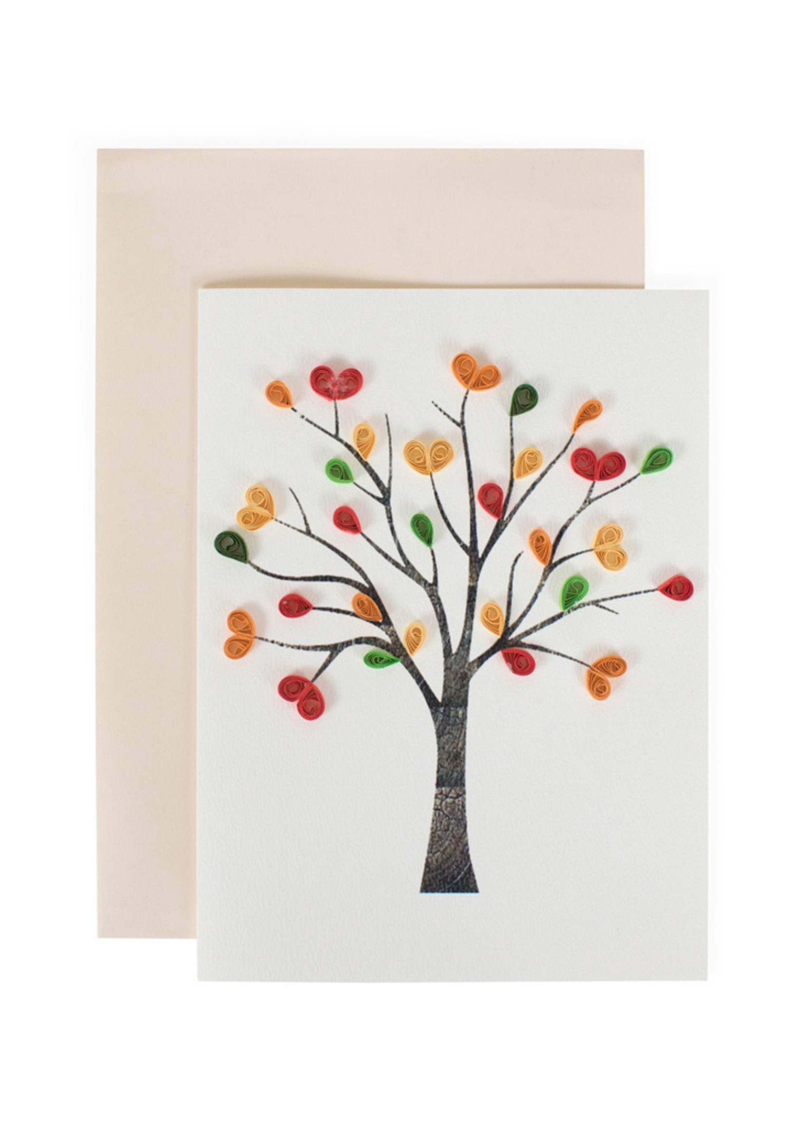 Mai Vietnamese Handicrafts Quilled Love Tree Card