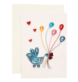 Quilled Baby Stroller Card