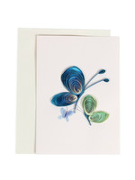Mai Vietnamese Handicrafts Quilled Butterflies Fly Card