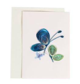 Quilled Butterflies Fly Card