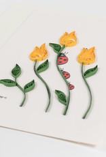 Quilled Ladybug Flower Card