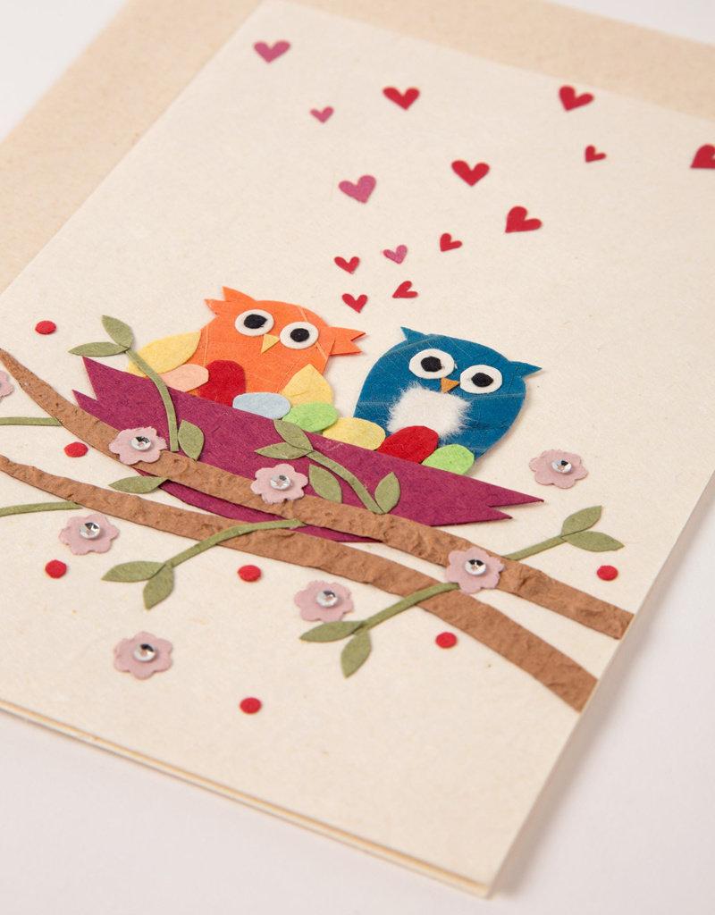 Owl's Love Nest Card