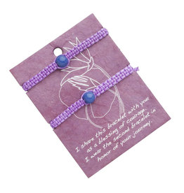Purple Friendship Bracelet Set