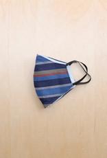 Malia Designs Blue Striped Face Mask