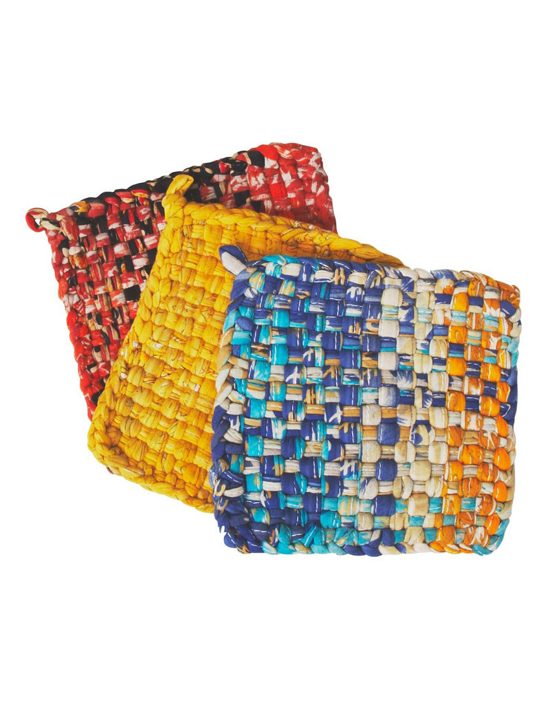 Woven Sari Hot Mat Set