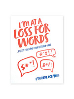 Good Paper Loss For Words Card