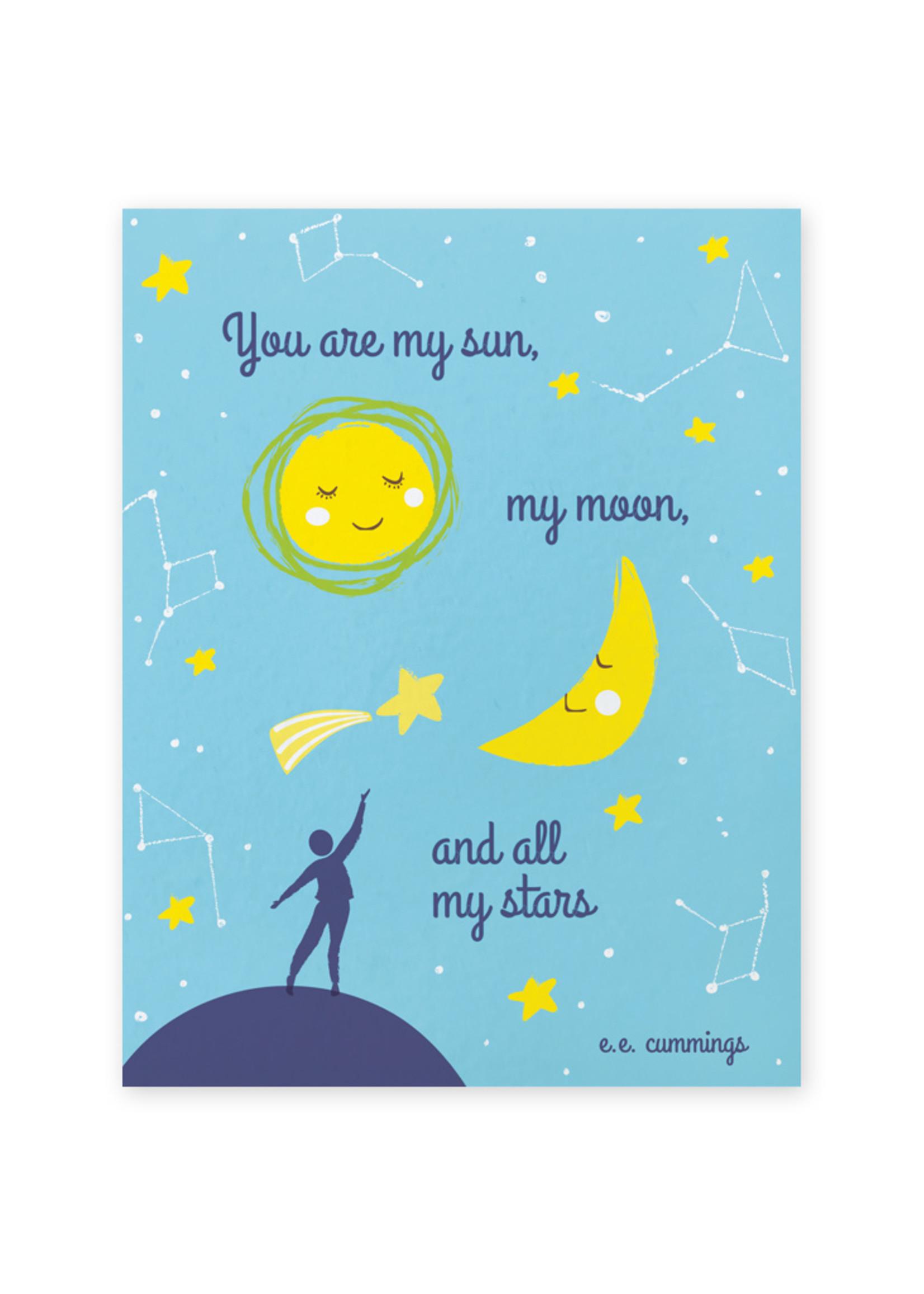 Good Paper Sun Moon Stars Love Card