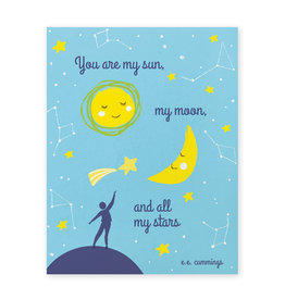 Good Paper Sun Moon Stars Love Card