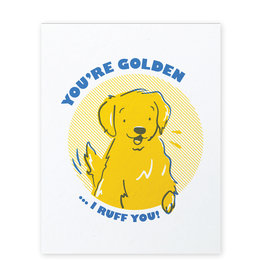 Good Paper Golden Retriever Love Card