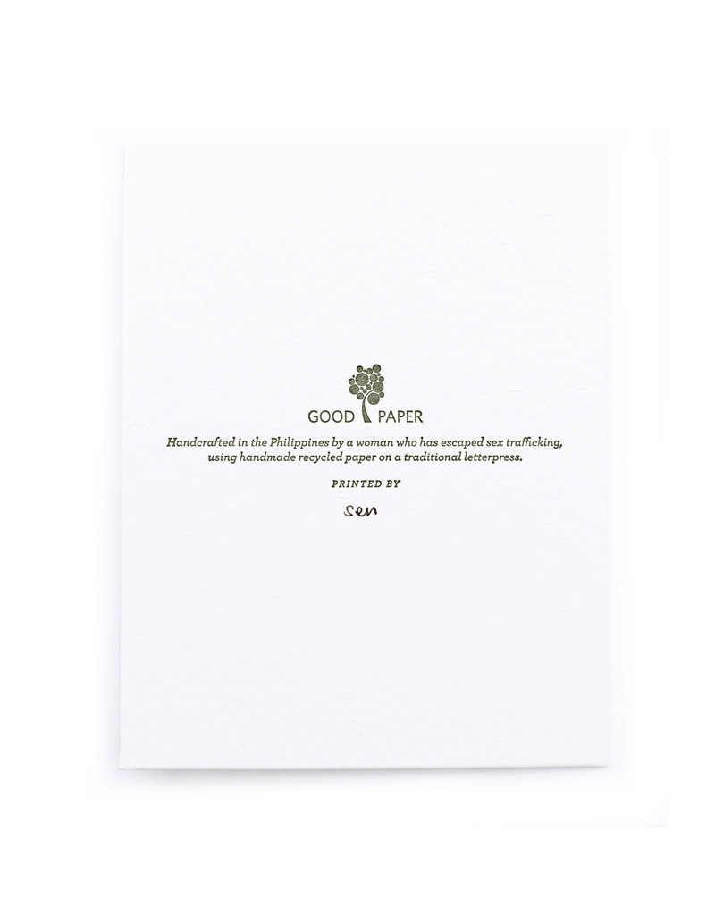 Good Paper Anniversary Wine Card