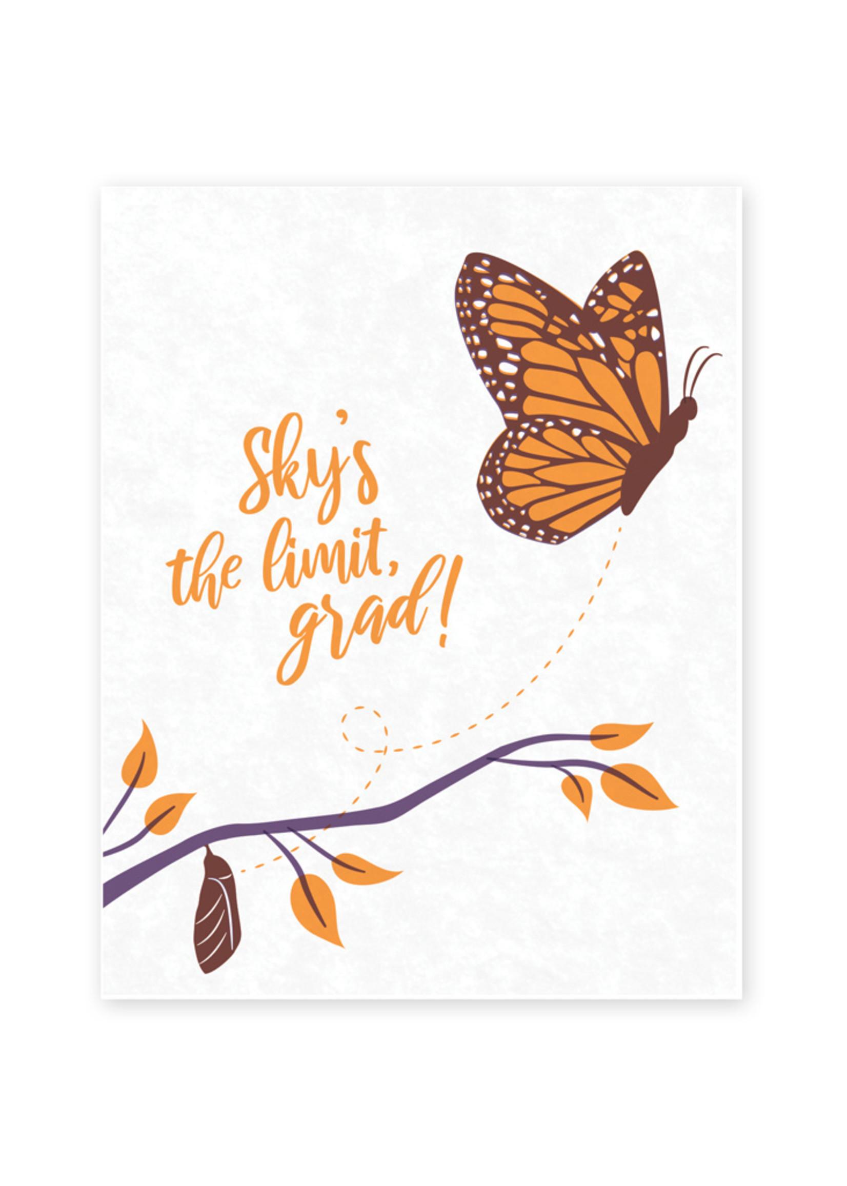 Good Paper Butterfly Graduation Card