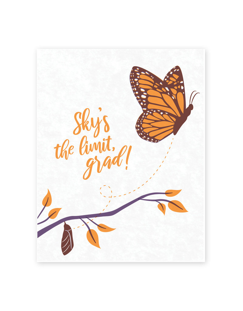 Good Paper Butterfly Graduation Card