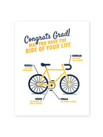 Good Paper Graduation Bicycle Card