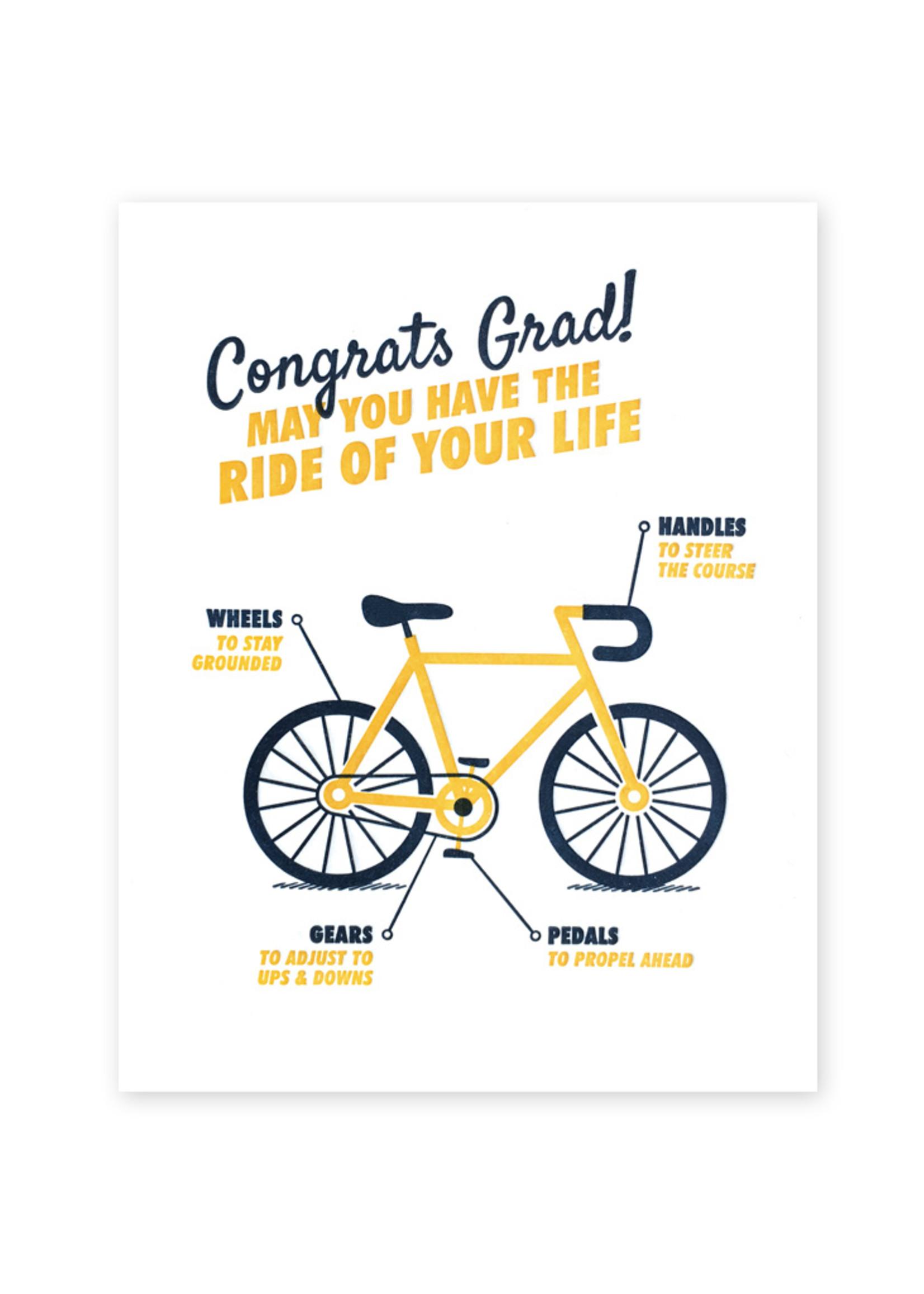 Good Paper Graduation Bicycle Card