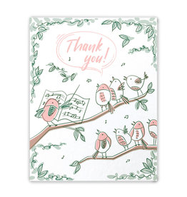 Good Paper Thank You Bird Chorus Card