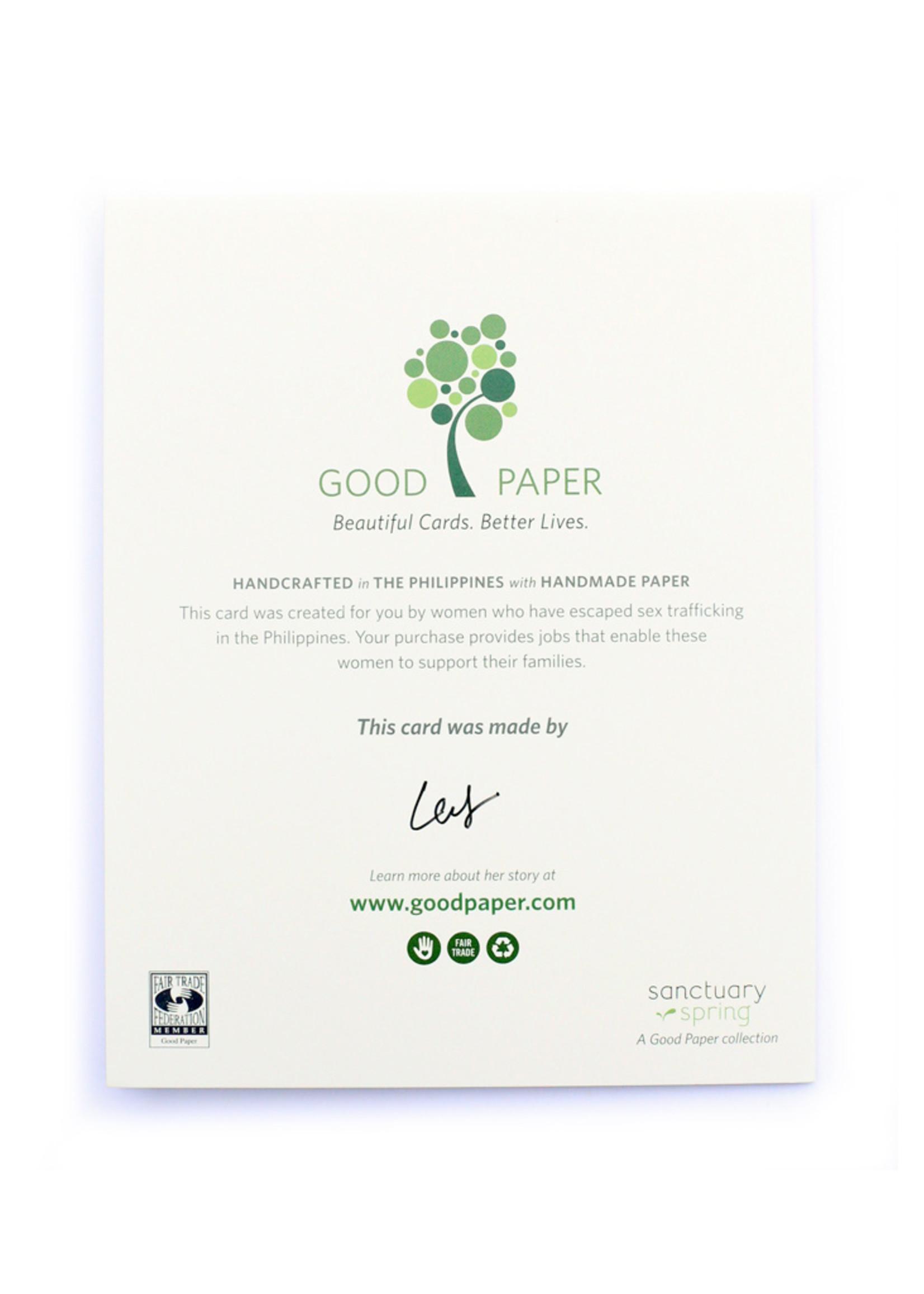 Good Paper Hay Girl Card