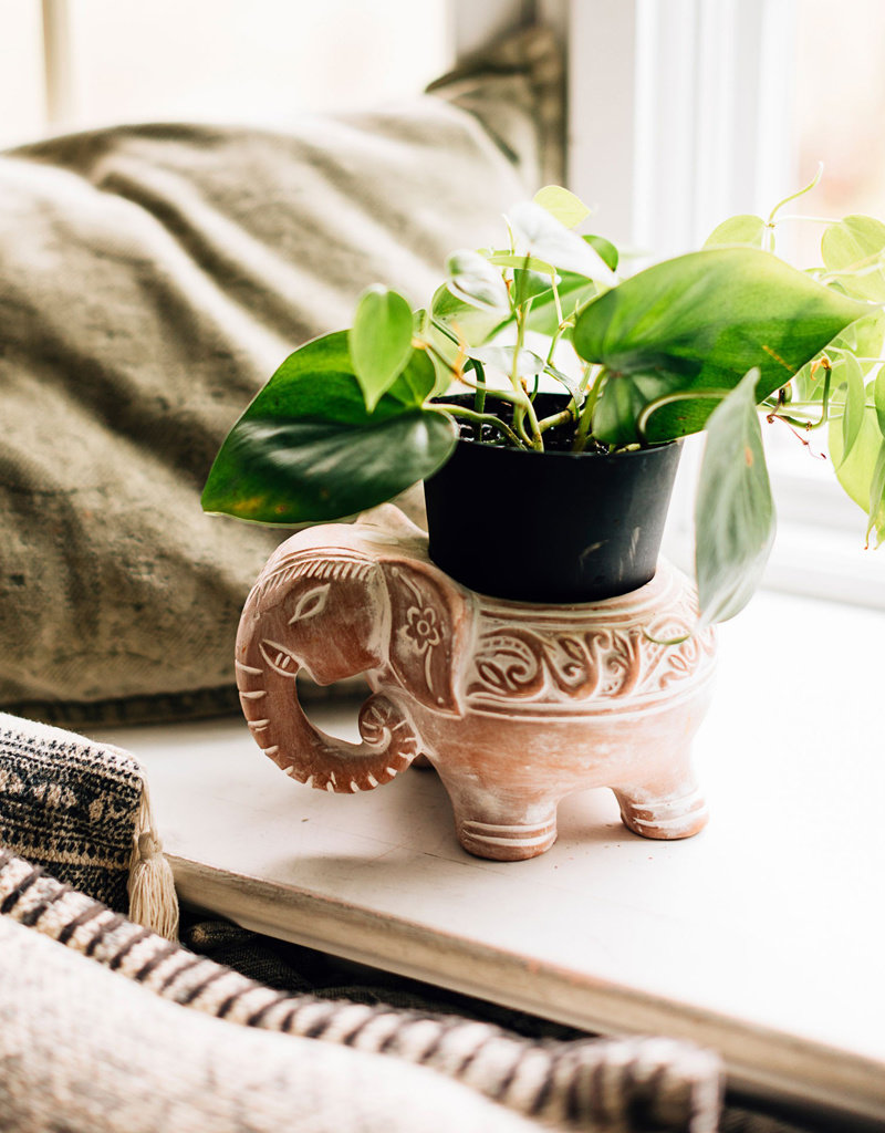 Ceramic Elephant Planter