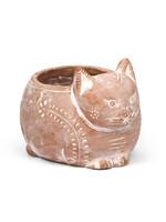 Ceramic Crouching Cat Planter