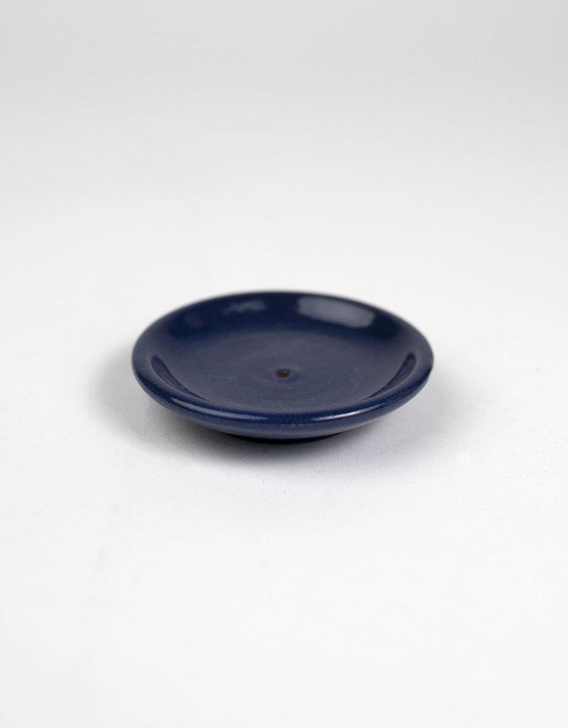 Deep Blue Dish Incense Holder