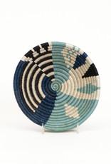 Kazi Small Silver Blue Biko Basket
