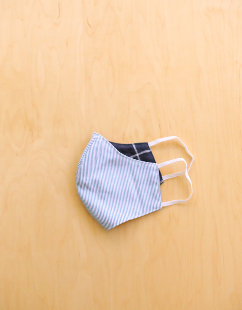 Malia Designs Blue & White Stripe Face Mask