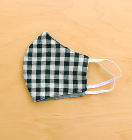 Malia Designs Black Gingham Face Mask (reversible)