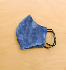 Malia Designs Distressed Denim Face Mask (reversible)