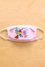 Pink Stripe Otomi Face Mask