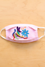 Pink Stripe Otomi Face Mask