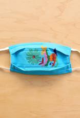 Turquoise Otomi Face Mask