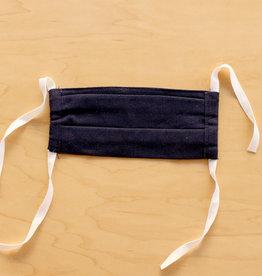 Navy Linen Face Mask