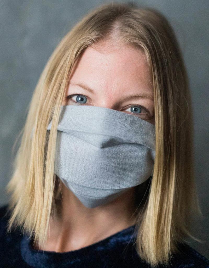 Light Grey Linen Face Mask