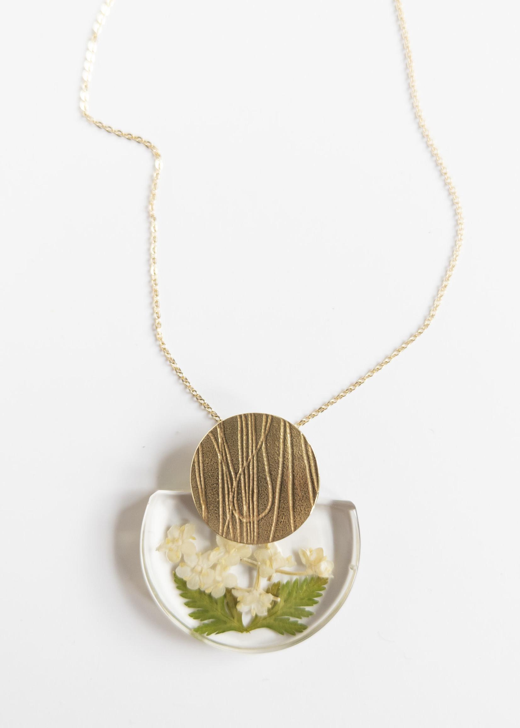 Belart Large Half Moon Elderberry Necklace
