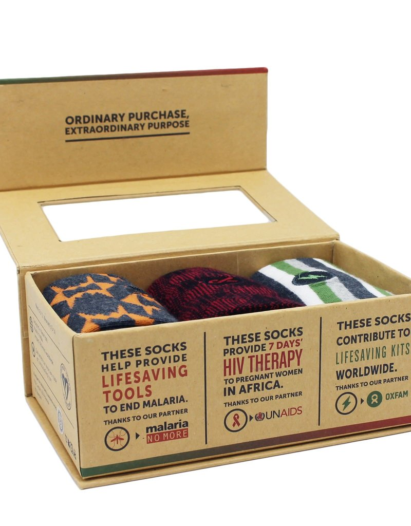 Humanitarian Box of Socks (men's)