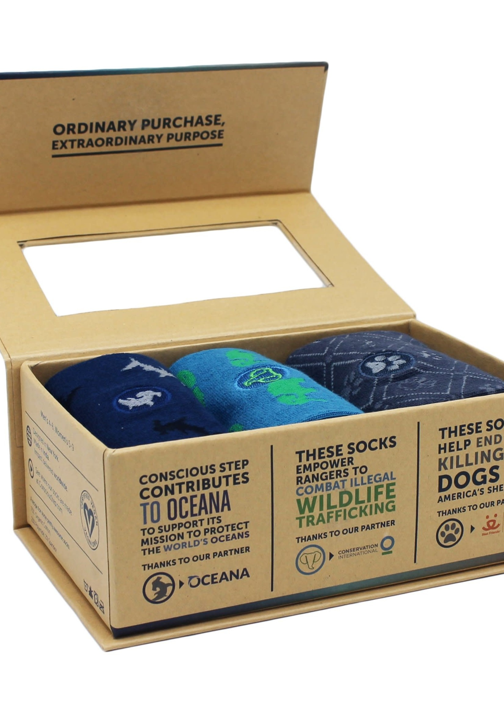 Conscious Step Women's Box of Socks That Protect Animals