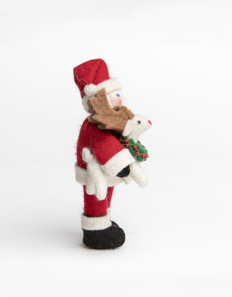 Craftspring Santa with Baby Rudolph Ornament