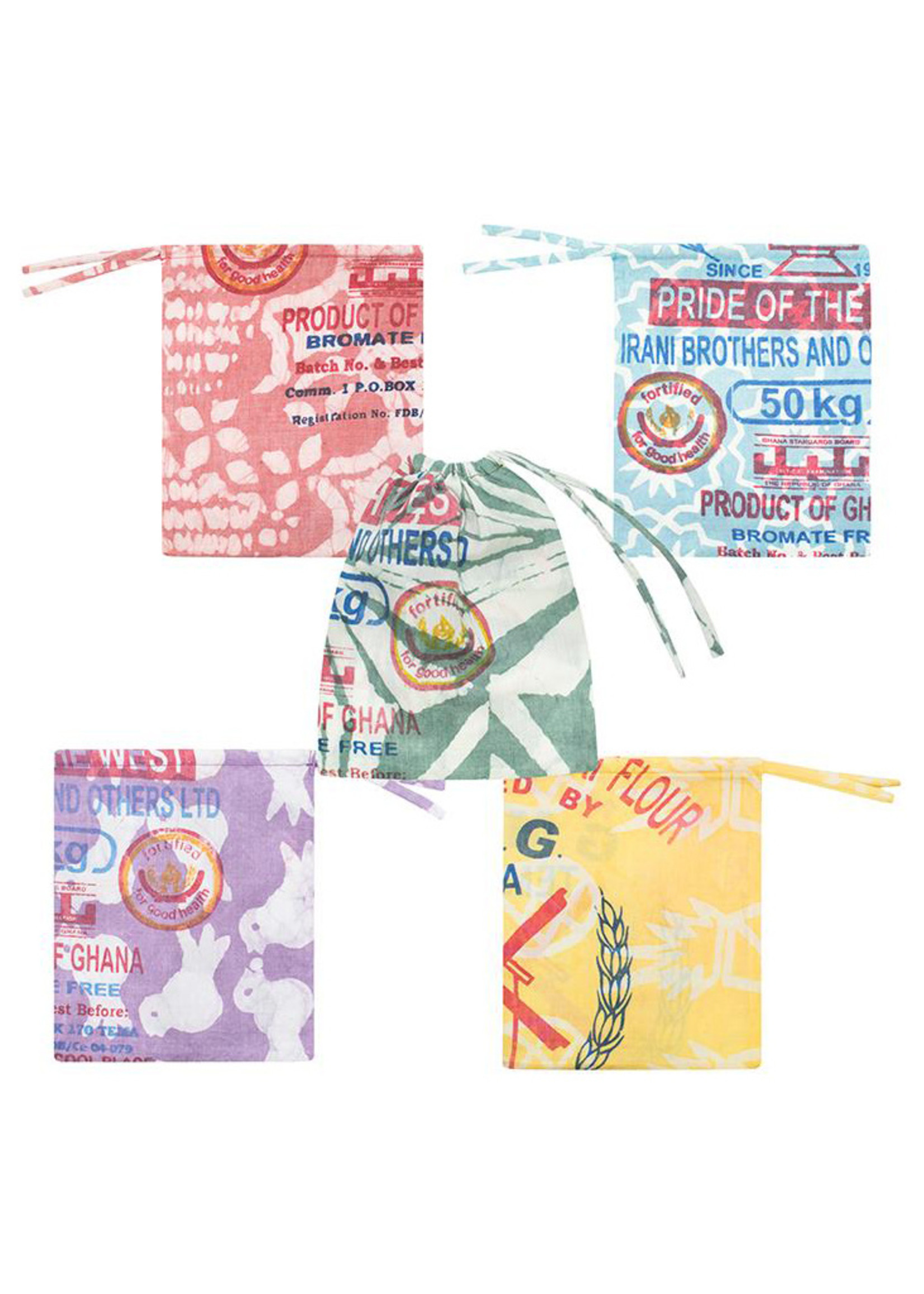 Global Mamas Small Recycled Flour Sack Produce Bag