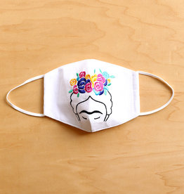 Embroidered Frida Face Mask