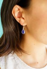 Raindrop Blue Chalcedony Earrings